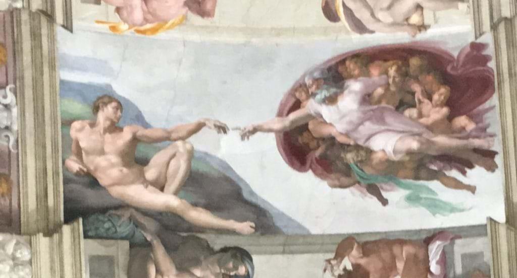 Takmålningen av Michellangelo i Sixtinska Kapellet