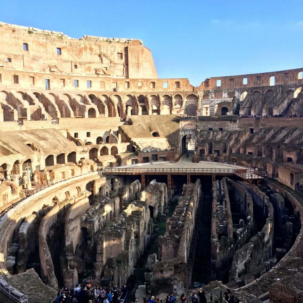 Colosseum i Rom från insidan