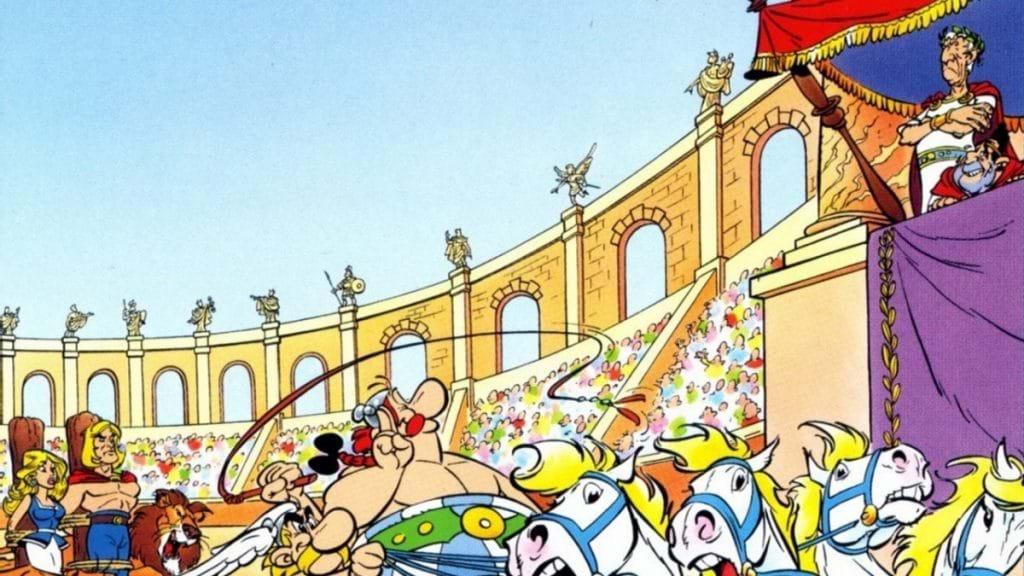 Asterix och Caesar på Colosseum, Rom