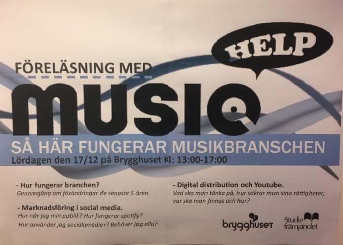 Inbjudan Föreläsning med Music Help
