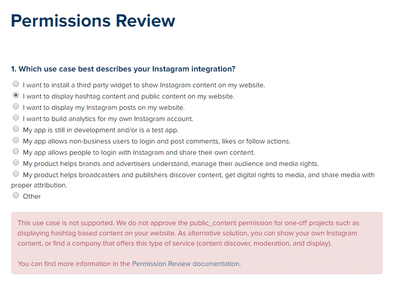 Instagram Permissions Review