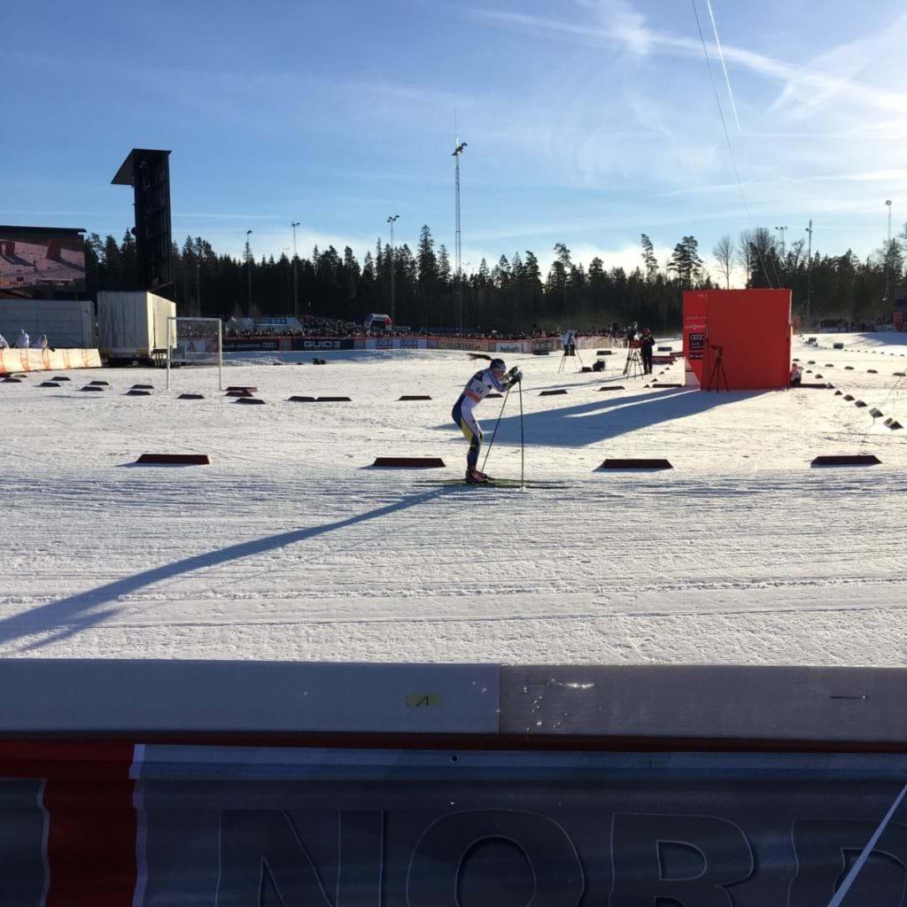 Världscupen i längdskidor Ulricehamn - Charlotte Kalla kom trea
