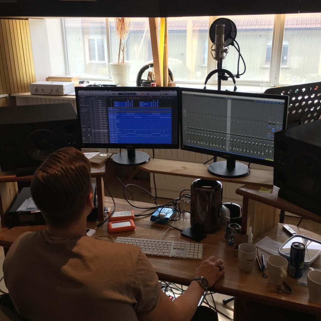 Inspelning hos Rexius Records - Inspelningsrummet