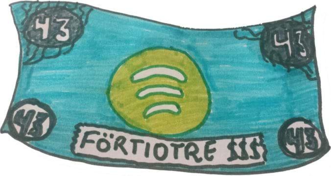 Hur mycket betalar Spotify?