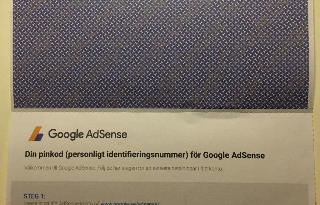 Ett brev från AdSense - insidan